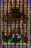 Witraż w Mechelen katedrze Zdjęcia Stock