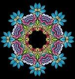 Witraż w postaci kwiatu ilustracja wektor