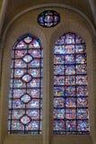Witraży okno w Chartres katedrze zdjęcia royalty free