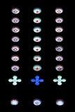 Witraży okregów wzór Fotografia Stock