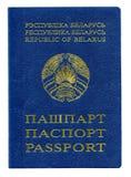 Witrussisch die paspoort op het wit wordt geïsoleerd royalty-vrije stock fotografie