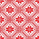 Witrussisch etnisch ornament, naadloos patroon Vector illustratie Royalty-vrije Stock Fotografie