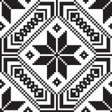 Witrussisch etnisch ornament, naadloos patroon Vector illustratie Stock Foto