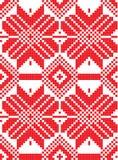 Witrussisch etnisch ornament, naadloos patroon Vector illustratie Stock Afbeelding