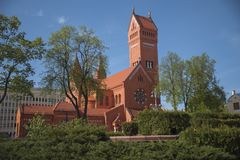Witrussisch Roman Catholic Church royalty-vrije stock afbeeldingen