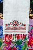 Witrussische handdoek met uitstekend ornament Stock Fotografie