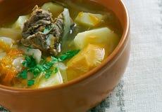 Witrussische traditionele soep stock fotografie