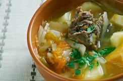 Witrussische traditionele soep stock afbeeldingen