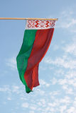Witrussische vlag Stock Afbeelding