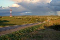 Witrussische weg Stock Afbeeldingen