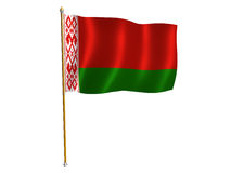 Witrussische zijdevlag Stock Afbeeldingen