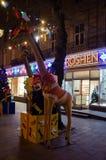 Witryna sklepowa Roshen cukierki w Lviv Fotografia Royalty Free