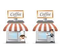 Witryny sklepowej kawa Zdjęcie Stock