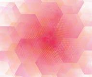 Witte abstracte achtergrond met hexagonale cellenfractal textuur royalty-vrije illustratie