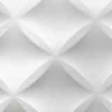 Witte Abstracte 3D Moderne Bac van de de Tegelmuur van het Huis Binnenlandse Polystyreen Royalty-vrije Stock Fotografie