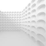 Witte abstracte muurachtergrond Futuristisch architectuurontwerp Stock Foto
