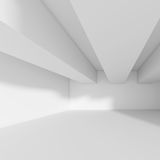 Witte abstracte shapes Futuristische Bouwconstructie Royalty-vrije Stock Afbeelding