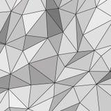 Witte Abstracte Veelhoekige Achtergrond Stock Afbeeldingen