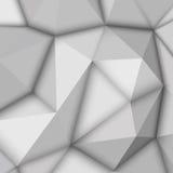 Witte Abstracte Veelhoekige Achtergrond royalty-vrije illustratie