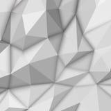 Witte Abstracte Veelhoekige Achtergrond Stock Foto