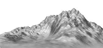 Witte abstracte veelhoekige berg Royalty-vrije Stock Fotografie