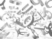 Witte achtergrond met brieven Stock Afbeelding