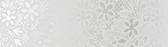 Witte achtergrond met kantpatroon Royalty-vrije Stock Fotografie