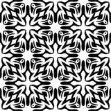 Witte Achtergrond van Semless de Zwarte dezine Royalty-vrije Stock Foto
