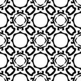 Witte Achtergrond van Semless de Zwarte dezine Royalty-vrije Stock Afbeeldingen
