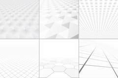 Witte achtergronden met perspectief vector illustratie