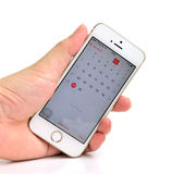 Witte Apple-iPhone 5S Royalty-vrije Stock Fotografie