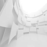 Witte architectuur cirkelachtergrond Abstract binnenlands ontwerp Royalty-vrije Stock Foto