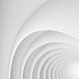 Witte architectuur cirkelachtergrond Abstract binnenlands ontwerp Stock Fotografie