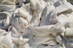 Witte atletische sokken Stock Foto's