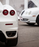 Witte auto stock foto
