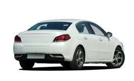 Witte auto achtermening Stock Foto's
