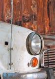 Witte auto en koplamp Stock Foto's
