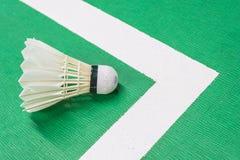 Witte badmintonshuttle Royalty-vrije Stock Afbeeldingen