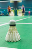 Witte badmintonshuttle Stock Afbeelding