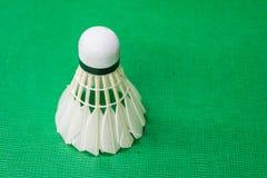 Witte badmintonshuttle Stock Afbeeldingen