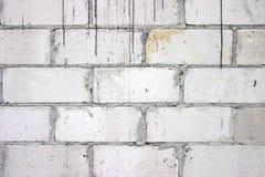 Witte bakstenen Stock Afbeeldingen