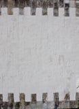 Witte bakstenen muur Stock Fotografie