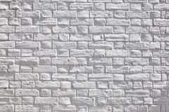 Witte bakstenen muur stock foto's