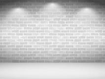 Witte bakstenen muur stock illustratie