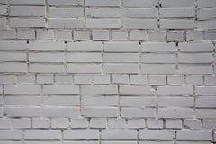 Witte bakstenen muur Stock Afbeelding