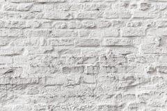 Witte bakstenen muur grunge textuur Stock Foto's