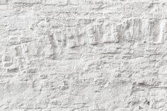 Witte bakstenen muur grunge textuur Stock Fotografie