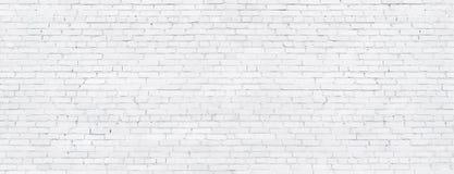 Witte bakstenen muur, textuur van gewit metselwerk als achtergrond royalty-vrije stock foto's