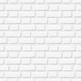 Witte bakstenen muur Vector naadloze textuur royalty-vrije illustratie
