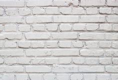 Witte bakstenen muur voor textuur of achtergrond Stock Fotografie